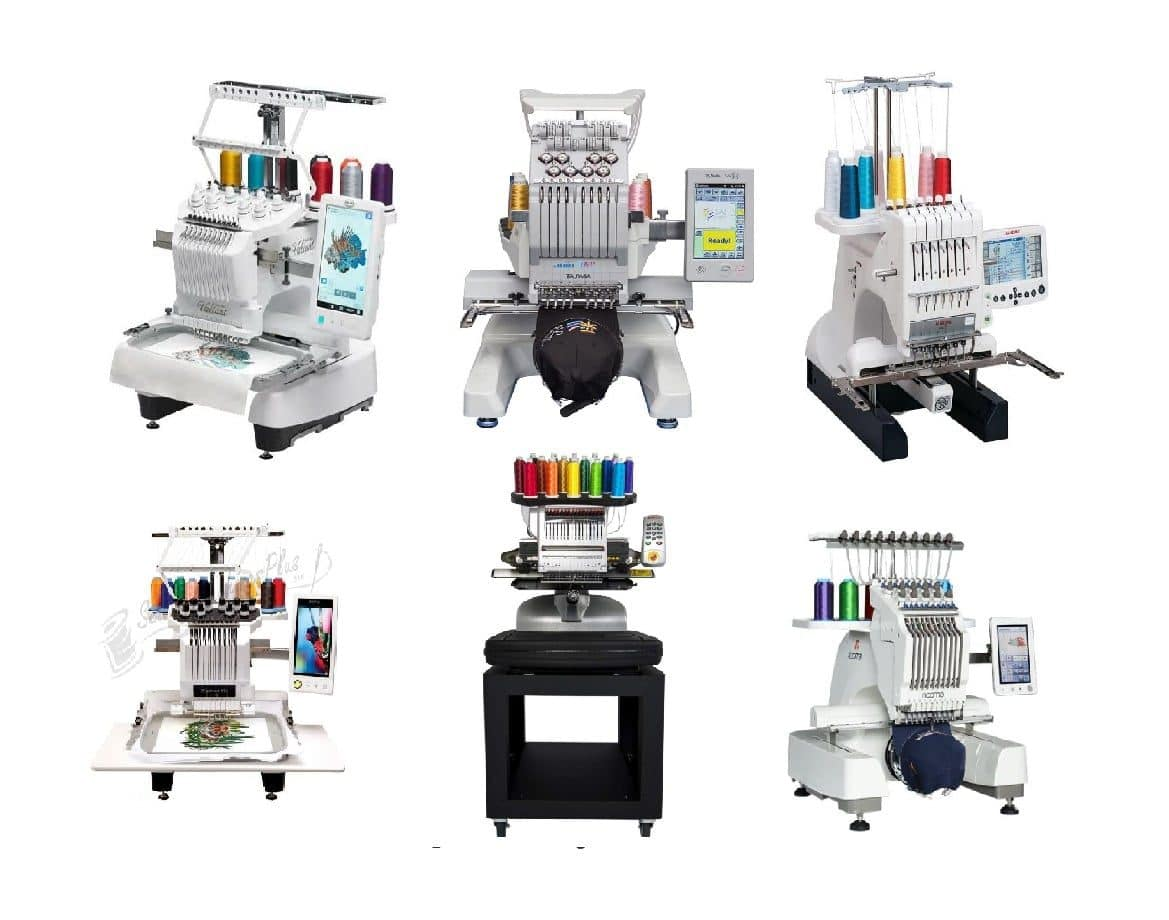 multi needle embroidery machines