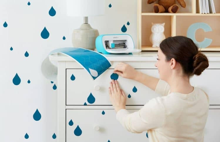 blue rain drop wall decals cut on cricut joy
