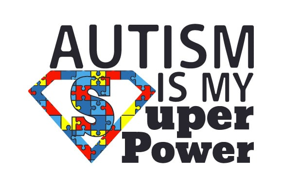 autism super power svg