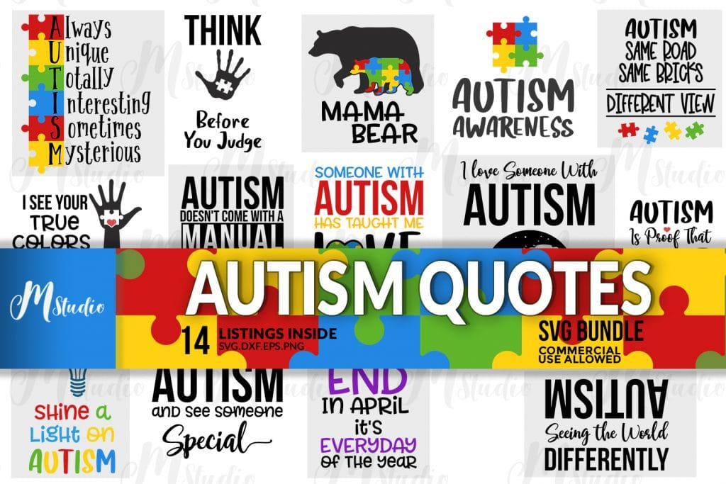 autism quote svgs