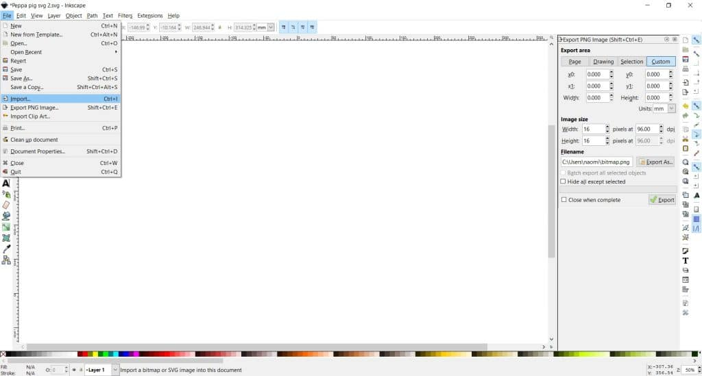 how to use inkscape to make svg files
