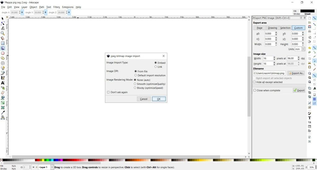 how to trace bitmap in inkscape