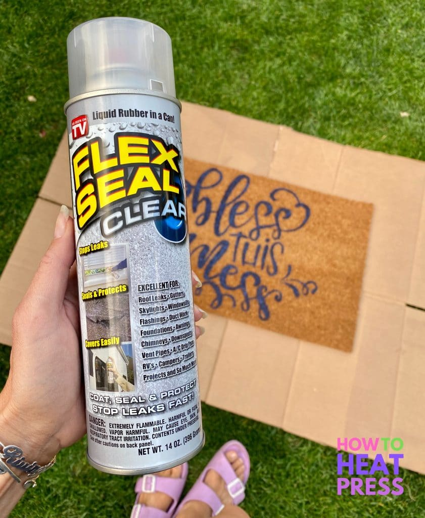 clear flexseal for sealing diy doormat