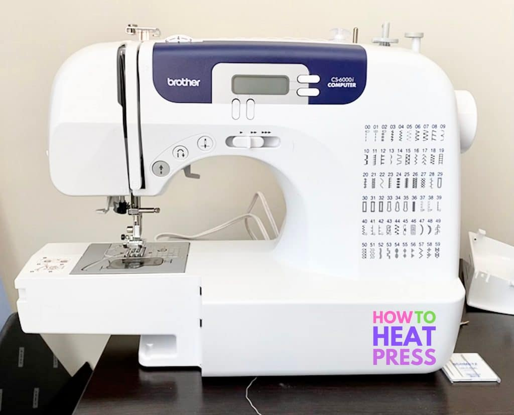 brother cs6000i reviews portable white and blue sewing machine