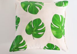 Monstera Leaf Throw Pillow With Cricut!