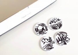 How To Draw With Cricut Infusible Ink Pens And Coaster Blanks!