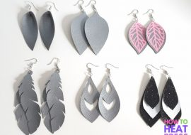 Cricut Faux Leather Earrings Tutorial: 6 Different Styles!