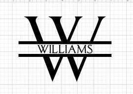 Split Letter Monogram Tutorial Using Cricut Design Space