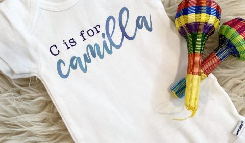 How to Make a Custom Cricut Baby Onesie® & Other Baby Gear