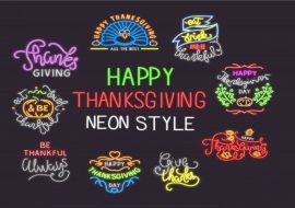Happy Thanksgiving Clipart | Thanksgiving Cut Files | Thanksgiving Fonts