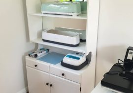 Cricut Machine Storage Project – Painting An Old Cabinet